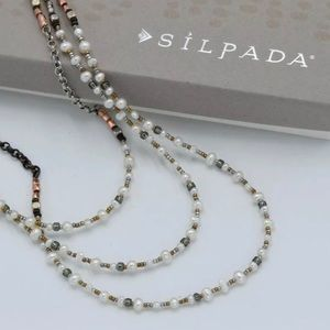 Silpada Sterling,Copper,Pearl,Brass Necklace N1993